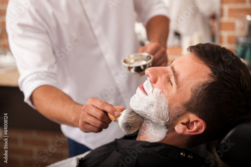 Ready for a shave at the barber's