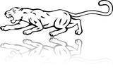 Wild panther attacking - 64008900