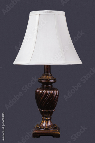 Nigth lamp on gray background