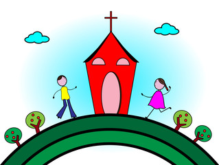 Children go to Church