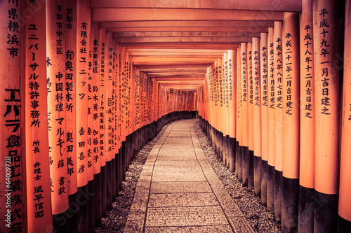 Foto Spatwand Japan Leading Line To The Kyoto Gates