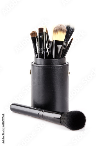 Makeup brush isolated white background