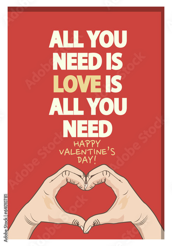 Valentine's Day Quote Poster