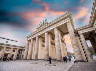 Sunset sky over Brandenburg Gate.