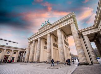 Sunset sky over Brandenburg Gate.