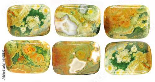green and yellow jasper crystal