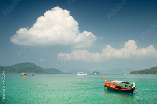 Travel-boat on Andaman sea