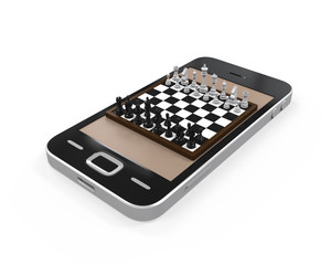 Chess Board in Mobile Phone