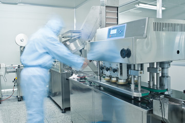 Pharmaceutical companies, pharmaceutical production line