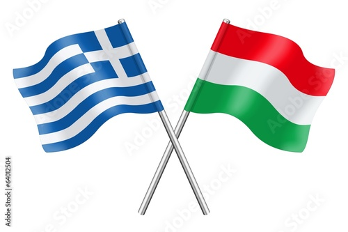 Flags : Greece and Hungary