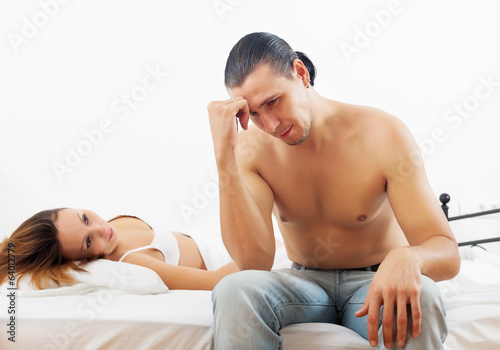 Middle-aged couple having problem