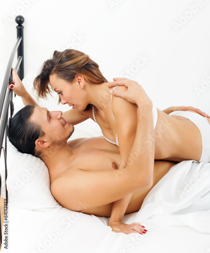 Handsome guy having sex with woman