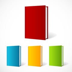 Vector book cover set perspective
