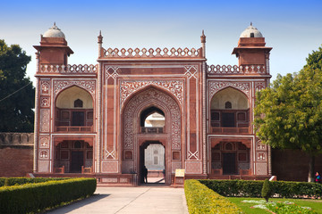 Gate to Itmad-Ud-Daulah's Tomb (Baby Taj) at Agra,India