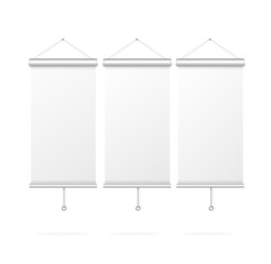 Blank roll up poster template