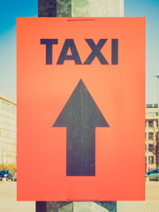 Retro look Taxi sign
