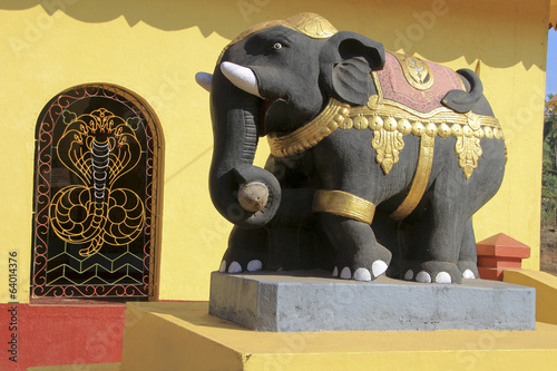 Elephant Statue at Temple