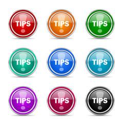 tips icon vector set