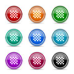 chess icon vector set