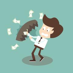Businessman Financial trap