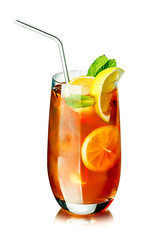 Ice tea in the glass