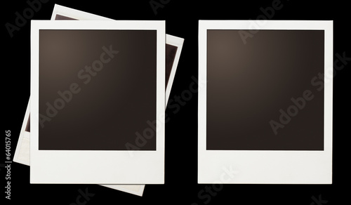 Vintage instant photo polaroid frames set isolated on black