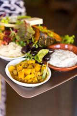 organic food platter