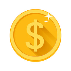 Flat vector money icon