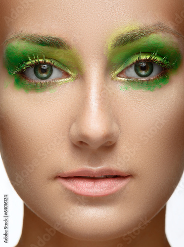 Creative makeup. Beauty Model Woman Face.