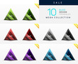 Collection of glass triangle web boxes