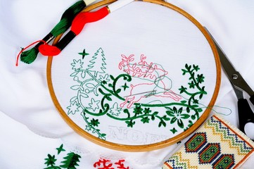 Christmas embroidery © Arena Photo UK
