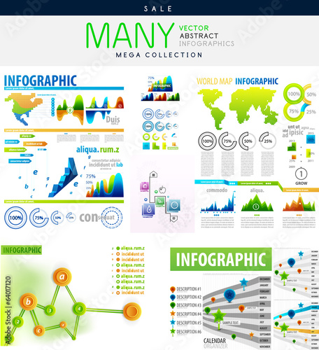 Infographics collections vector illustration