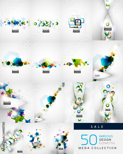 Various shaped abstract backgrounds