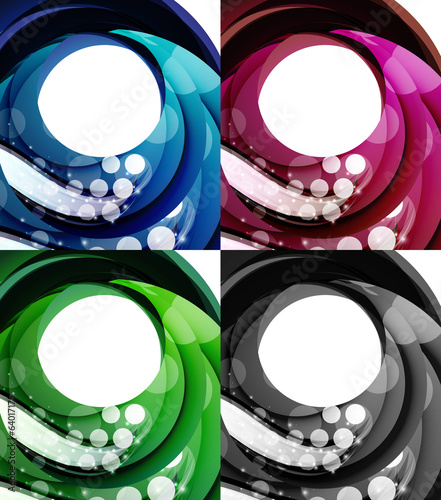 Set of abstract swirl backgrounds