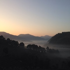 beautiful morning at northern thailand
