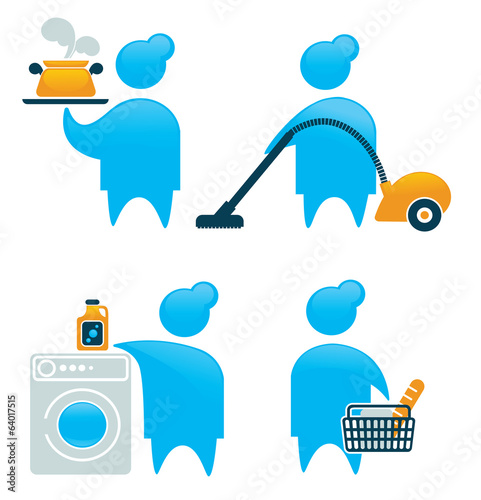 vector collection of housewife symbols and icons