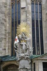 Skulprur am Stephansdom in Wien