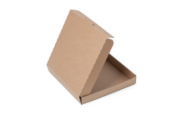 Cardboard Pizza Box, Isolated