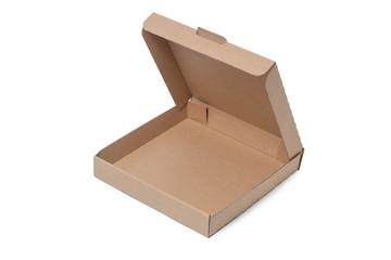 Cardboard Pizza Box, Isolated