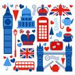 Leinwanddruck Bild - London symbols collection