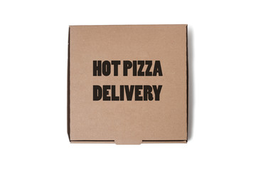 Hot Delivery Pizza Box, Isolated