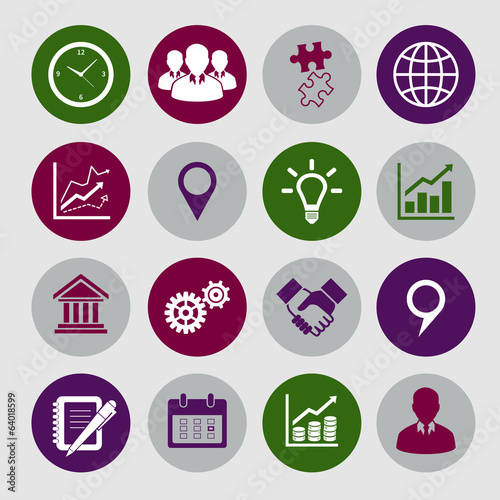 Business Icons Set and Design Elements