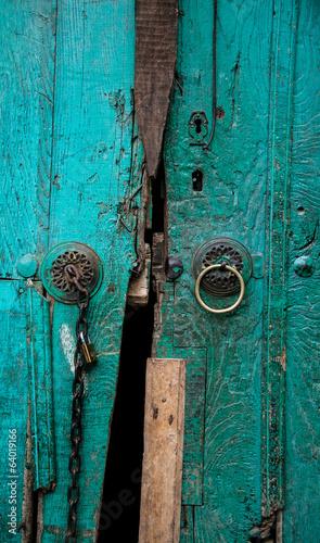 Wooden Door, Close-up Background