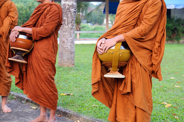 Buddhist monk on morning