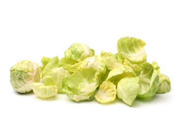 Brussels sprouts with leaves