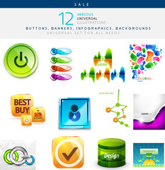 Vector illustrations set for universal use