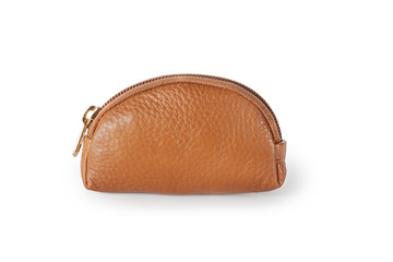 Leather Coin Wallet, Isolated