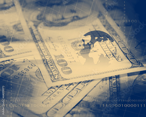Dollar Bills Background,Vintage Look