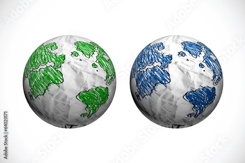 symbols of the planet Abstract 3d sphere illustration for your d