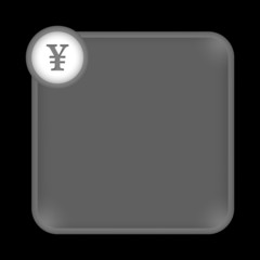 gray frame for any white text with yen sign